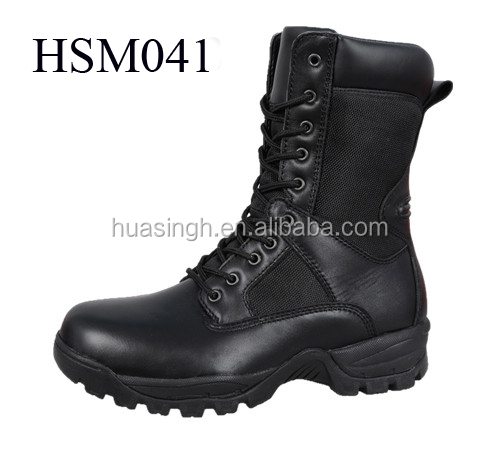 black leather cold weather resistant military surplus tactical gear duty army police boots