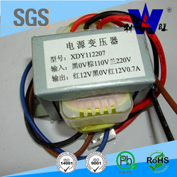 Low frequency silicon steel EI 66 transformer