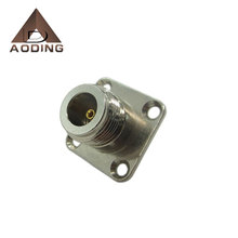 RF coaxial N male to SMA female flange connector