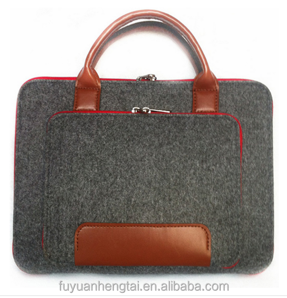 Promotional felt laptop bag,colorful tote bag laptop,new design neoprene laptop tote bag