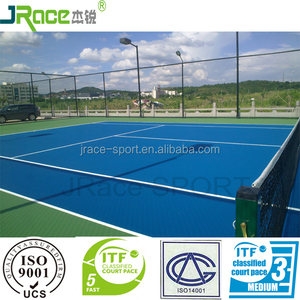 excellent buffering sports flooring for tennis court polyurethane rubber floor covering