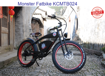 26'' 26er 750w 48v beach cruiser electric fat bike KCMTB024