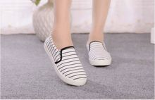 wholesale low price canvas shoes women casual flat shoes