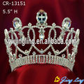 Clear rhinestone wedding pageant crown for sale
