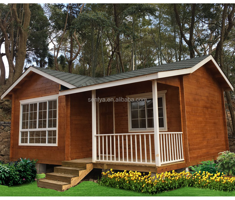 hot sale 40 sqm prefab wood house with 50 year warranty