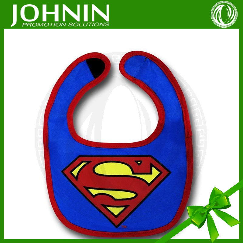 wholesale top quality superman design handsome fashion baby bandana bibs