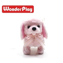 17CM Small Fluffy Puppy Plush Toy Pink Dogs Stuffed Animals Soft Children Dolls Kids Toys Gifts,cra