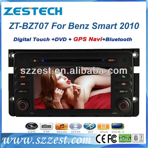 Zestech Car Stereo GPS Navigation auto parts for Mercedes Benz Smart Fortwo 2010 Car dvd gps