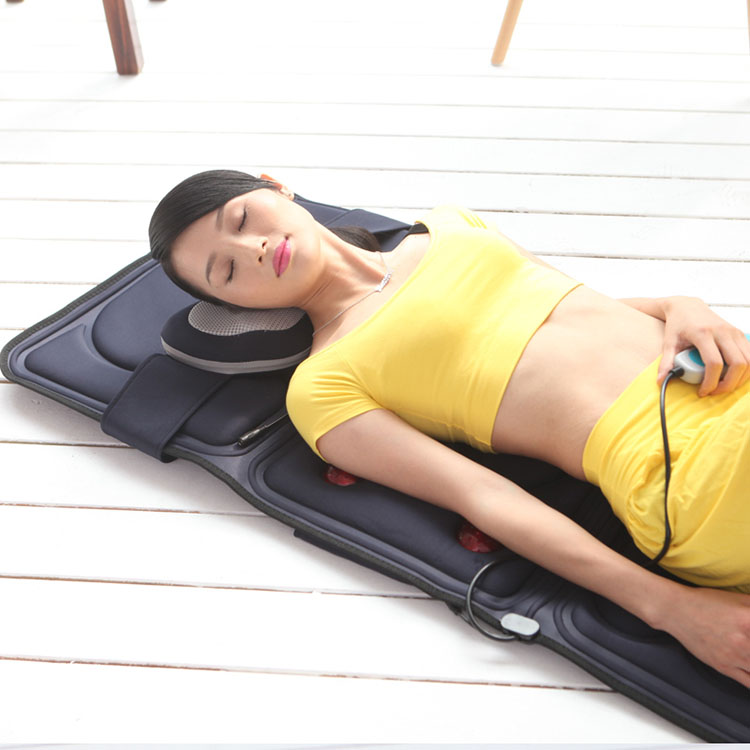 8 motors full body Physiotherapy massage mattress with heating function
