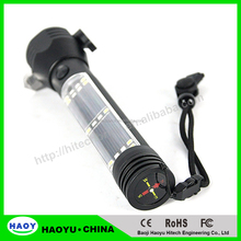 Solar Power Flashlight Multifunction Emergency Hammer Flashlight for Car Escape or Outdoor Adventure With USB Battery Charger
