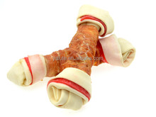 Nutrition Dingo knotted bone twined by chicken(4.5inch) dog chew toy