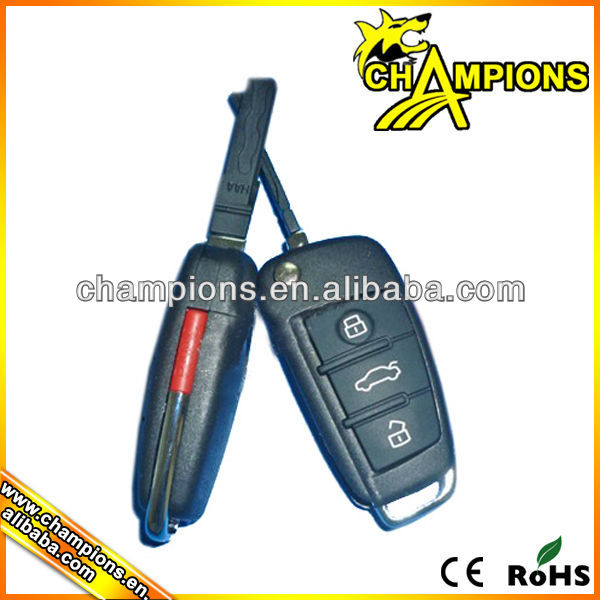 4 buttons car alarm remote control duplicator with blank key