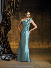 formal full length one shoulder beaded mother of the bride satin suits