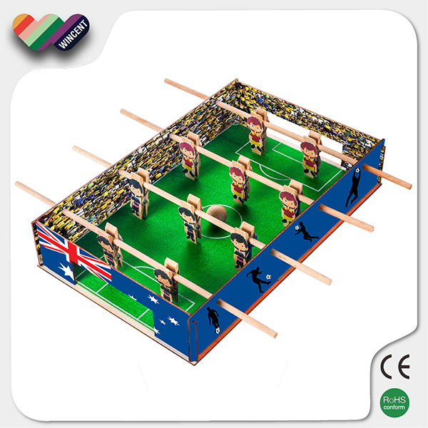 Wooden DIY Foosball Table Puzzle Toy Educational
