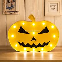2016 new halloween pumpkin led letter light