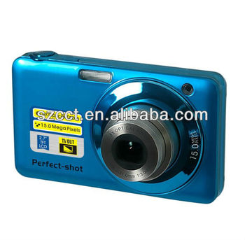 new! fashion style 5x optical zoom CCD 15MP digital camera DC-K718C