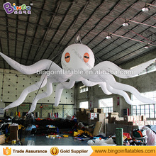 Giant inflatable light up octopus / inflatable hanging octopus for stage decoration