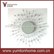 Metal decorative Sun mirrors for wall hanging home decorations
