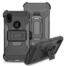NEW PC+TPU Holster kickstand 3in1 Mobile phone Armor Robot case For iphone 8