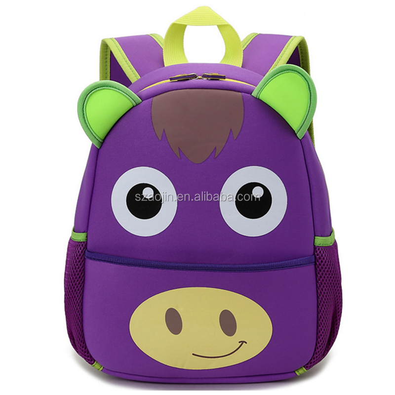Cheapest high-quality kids hanging storage school bag with cartoon picture