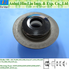 Conveyor Roller Pressed Bearing Housing Including Labyrinth Seal Pipe End Cap