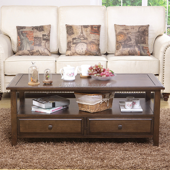 F41115A-1 Modern design wooden teapoy designs living room center table for sale