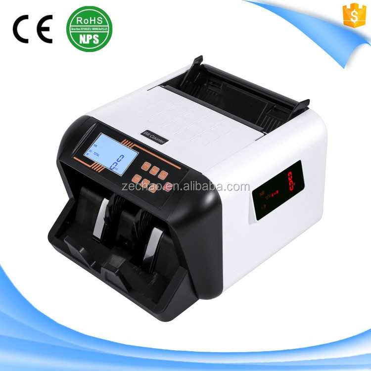 S157 Money Banknote Currency Bill Cash Note Sorter with ZC-555 UV MG Counterfeit Detection