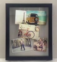 party decoration Photo Frame DIY Hanging Plated Clips with Photos - 5P wall clock with picture frames