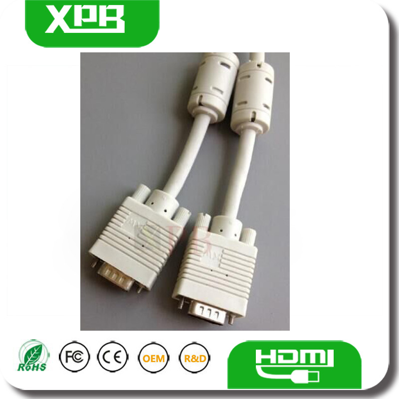 Wholesale VGA Cable 15Pin High Resolution for Monitors HDTV