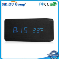 led digital clock display desk calendar alarm clock
