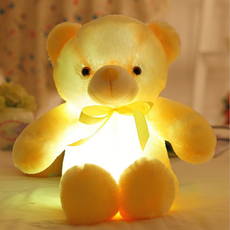 Collar collar teddy bear light toys built-led led lights light function