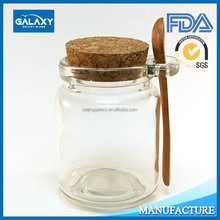 spice glass jar with cork lid and spoon unique design wholesale