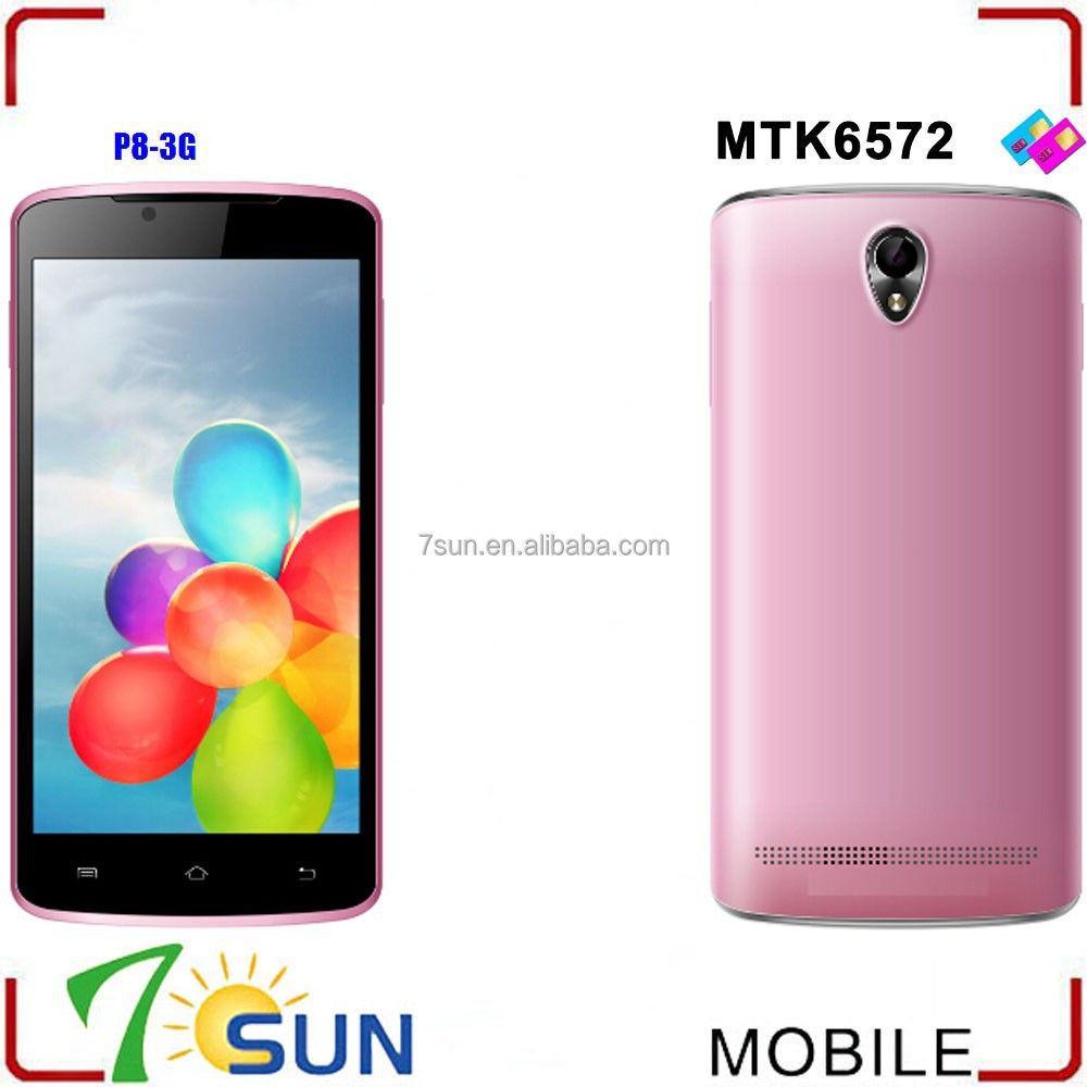 P8 Unlocked MTK 6572 Dual Core 5.0 inch Android 3G Smart Cell Phone 4.2 MTK 512MB android 4.4 phone