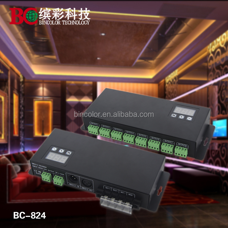 Universal outdoor advertising billboards 24 channels DMX decoder for led strip