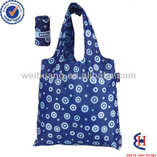 Customizable allover pattern print polyester foldable shopping bag