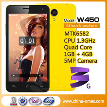 OMES W450 MTK6582 phone mobile quad core mtk cell phone
