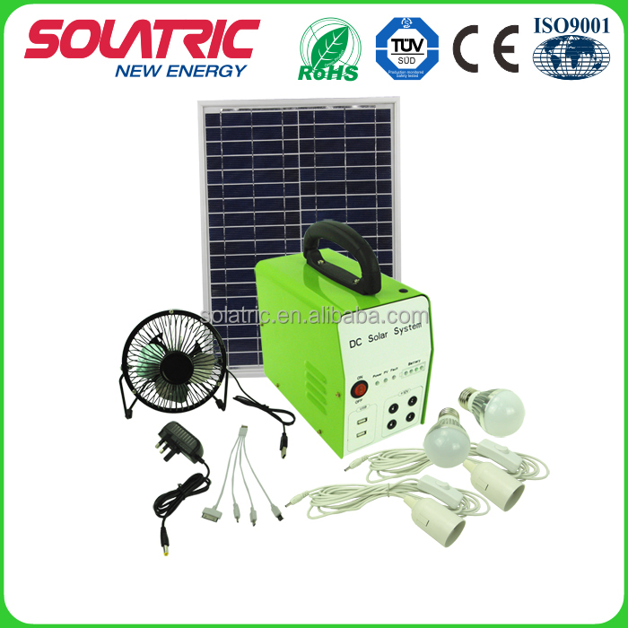 DC 30W 24AH high efficiency solar power generator system for home lighting