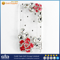 Luxury Fashion Handmade Bling Crystal Diamond PC Hard Case For iphone 6