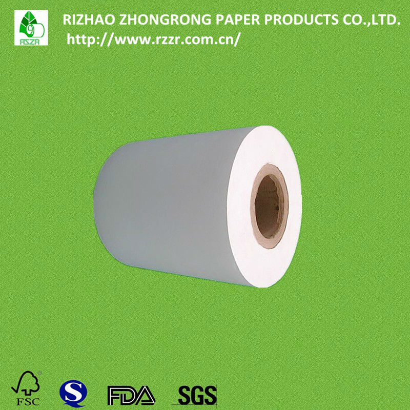 two sides poly laminating wood pulp paper