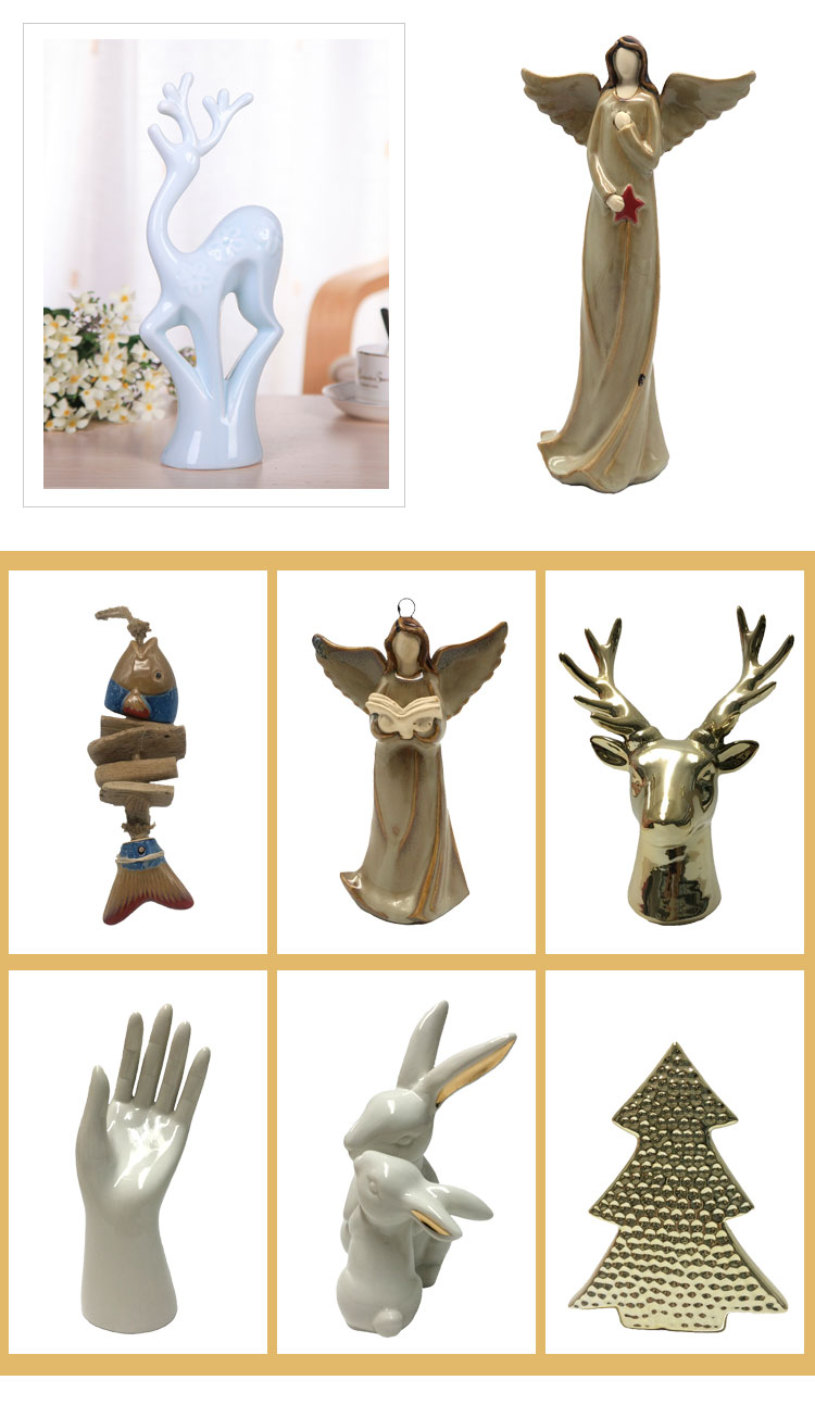 Customized Beautiful Ceramic Angel Girl Statue