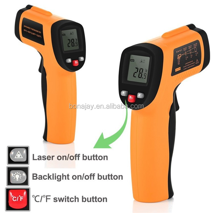 High accuracy Laser Infrared Thermometer GM550E