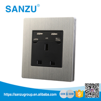 China factory wholesale 13A electric usb wall outlet, 3 pin switched socket outlet
