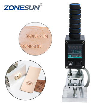 ZONESUN 8*10cm Handheld leather wood PVC hot stamping machine, leather embossing tool