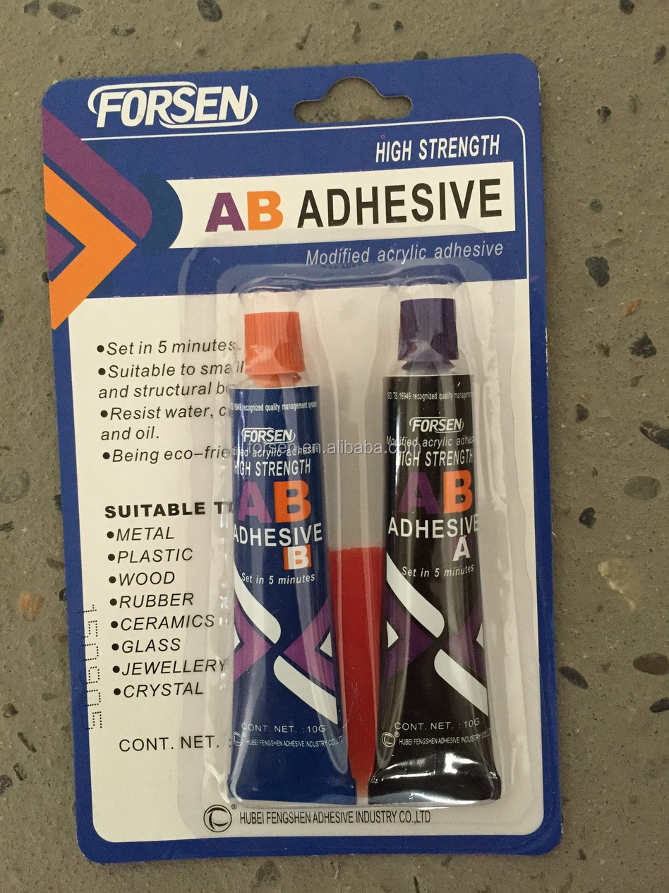 AB Glues AB Adhesives Two Components Resin Acrylic Modified