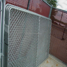 Galvanized Chain Link Fence Dog Cage