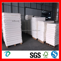 white pe coated paper cardboard in sheet without offset print