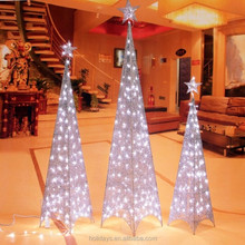 Iron Tower Pyramid Christmas Holiday Windows Decorative LED Tree Lights
