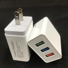 High Speed 5v 2.1A 3 Port Mobile Phone USB Home Wall Charger for iphone ipad Samsung smartphones charger