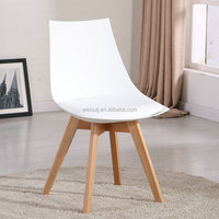 High Quality Wood leg plastic dining chair