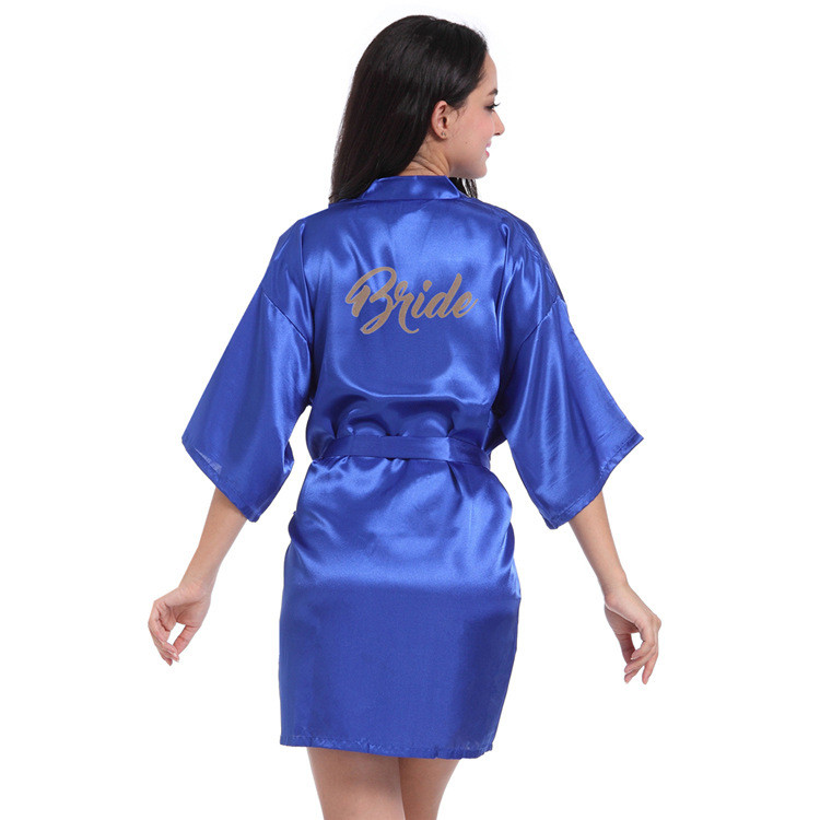 Wholesale and Retail Wedding Robe 2019 New Style Bridesmaid Robe Simple Wedding Gown Women Nightdress